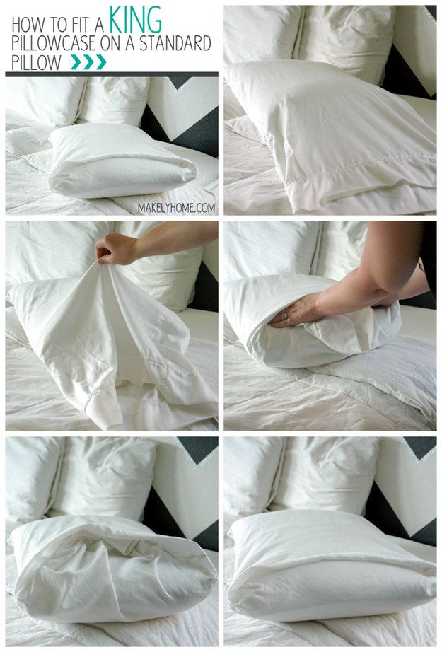 A King Pillowcase On A Standard Pillow | 25 Tutorials To Teach You To Fold Things Like An Actual Adult