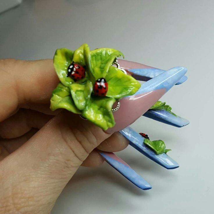 anello acrilico unghie acrilico 3d