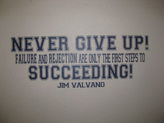 Never Give Up Jim Valvano Motivating Quote by FancyWallStickers, $38.99
