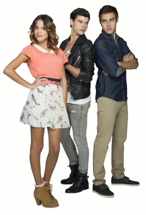 Jorge Blanco, Diego Domínguez, and Martina Stoessel in Violetta (2012)