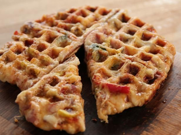 Get Waffle Maker Pizza Recipe from Food Network