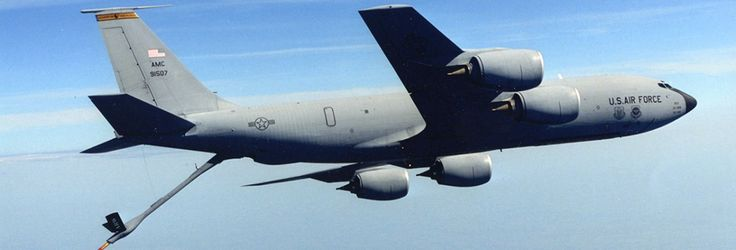 A Day in the Life of US Air Force Aerial Refueling Aircraft : KC-135 Stratotanker Refueling F-16's