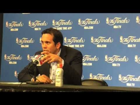▶ Miami Heat coach Erik Spoelstra speaks after NBA Finals Game 1 loss to Spurs - YouTube-- #ProBasketballMiamiHeat