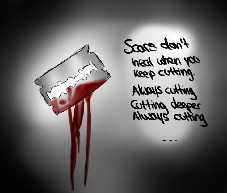 scars from cutting | Scars don't heal when you keep cutting... by LazyCat125