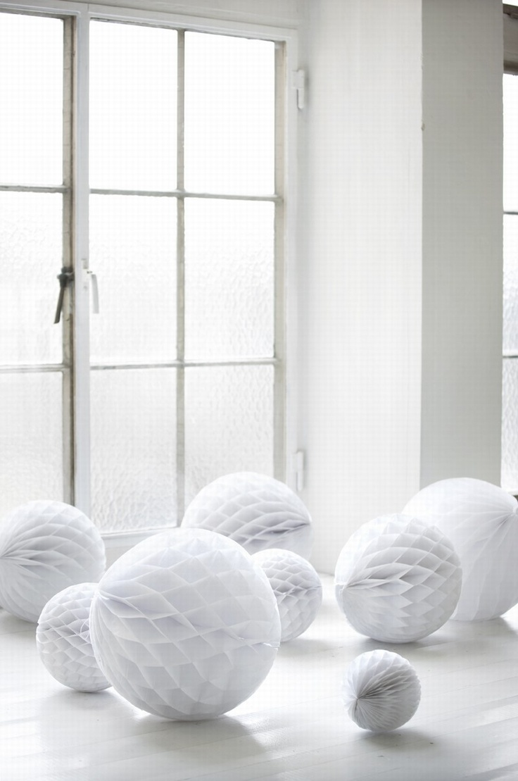 all white...paper products are big for accessorizing without great expense and they are a fun look brought back as strong additions for 2013!!