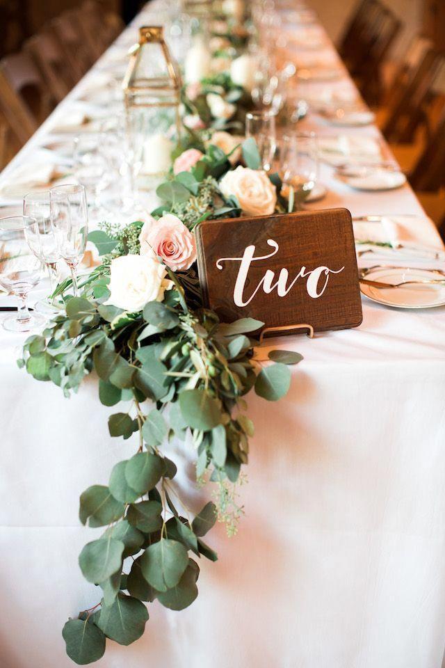 Wood Table Number Rusticwedding Rectangle Wedding Tables Long Table Wedding Wedding Table Centerpieces