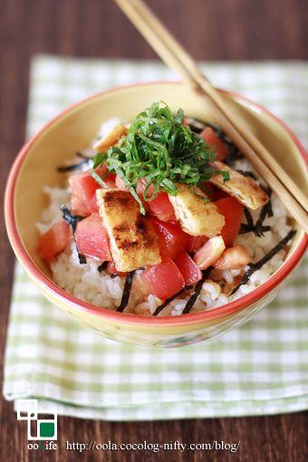 トマトと油揚げのナムル丼:ooLife *オーガニックレシピ手帖*