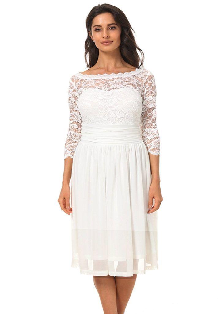df2dae13592 Clocolor Women s Vintage Floral Lace Elegant Bow Cocktail Party Dress  Evening Dress