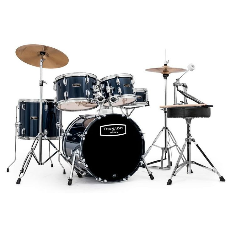 Mapex Tornado 18-Inch Compact Drum Kit, Blue. #mapex #drumkit