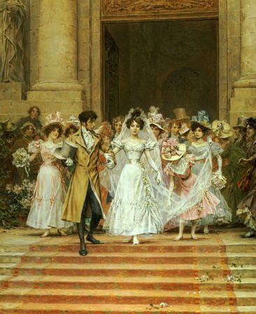 After the wedding...For more romantic art: http:/www.romantic-ideas-online.com