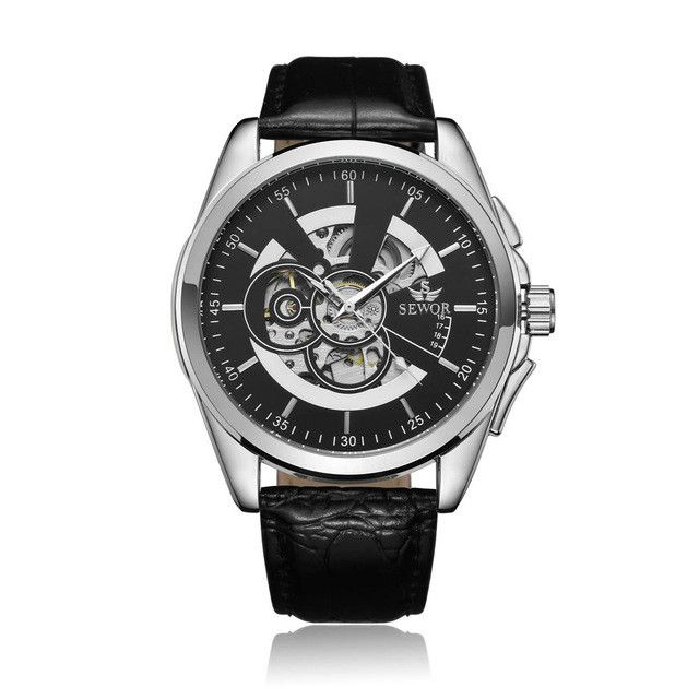 SEWOR Top Brand Luxury Men's Watch Men Wrist Watch Automatic Mechanical Skeleton Male Classic Clock Military Sport Clocks SE072