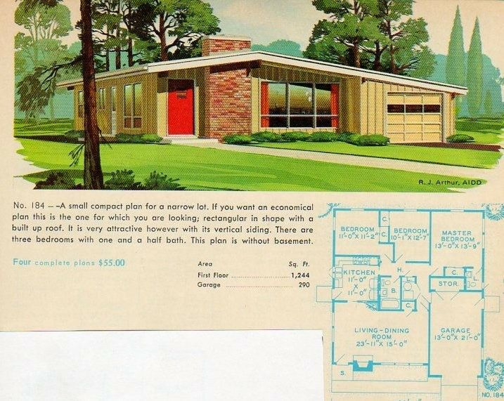 Pin by David Carr on Mid-century modern | Modern house plans ...