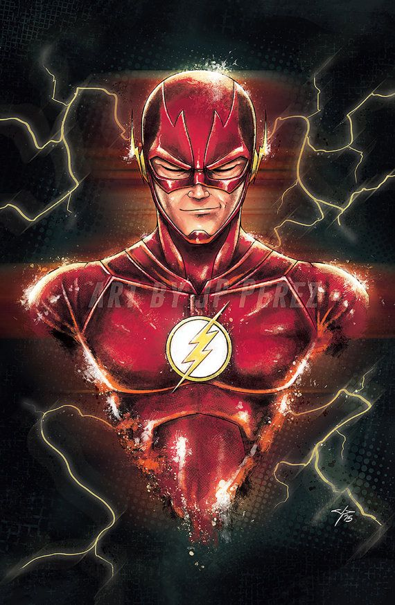 The Flash Bust Painting Poster Print by FantasmArt on Etsy