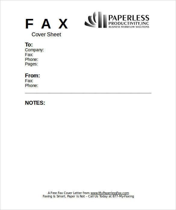 13+ Free Fax Cover Sheet Templates