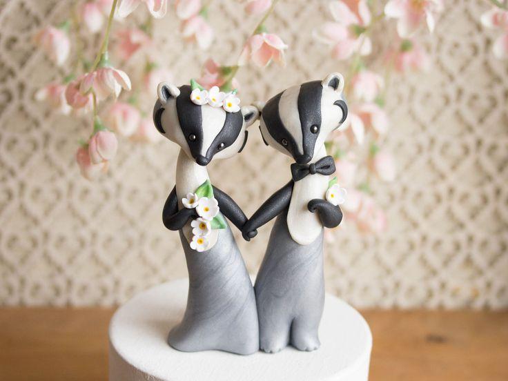 American Badger Wedding Cake Topper By Bonjour Poupette BonjourPoupette On Etsy