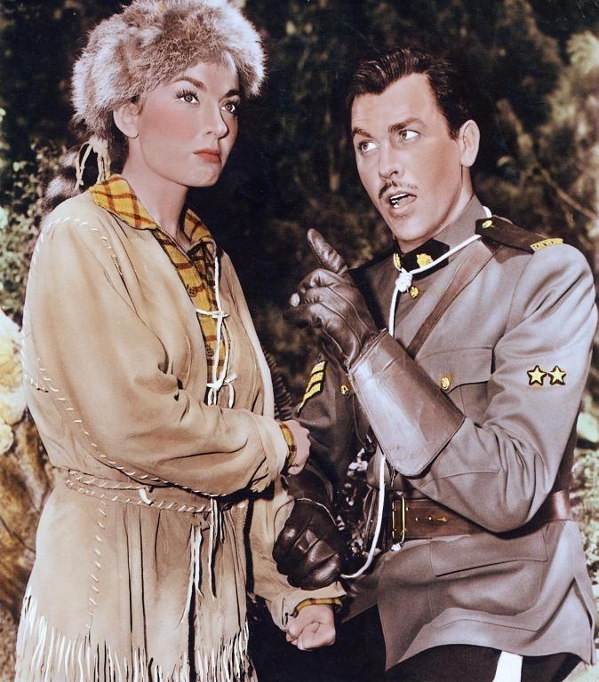 """Ann Blyth, Howard Keel in """"Rose Marie"""" (1955)"""