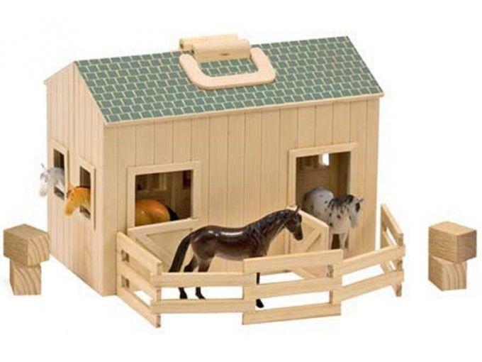 Fold and Go Stable Set - Children's Horse Toy