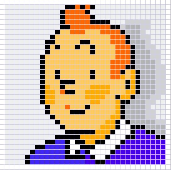Tintin chart - Might make this one for Mark