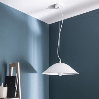 Suspension Design Soki métal blanc 1 x 60 W INSPIRE | Leroy Merlin