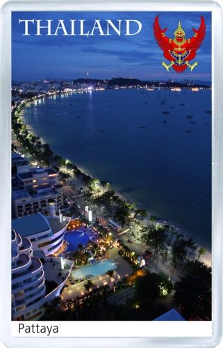Acrylic Fridge Magnet: Thailand. Pattaya Coast