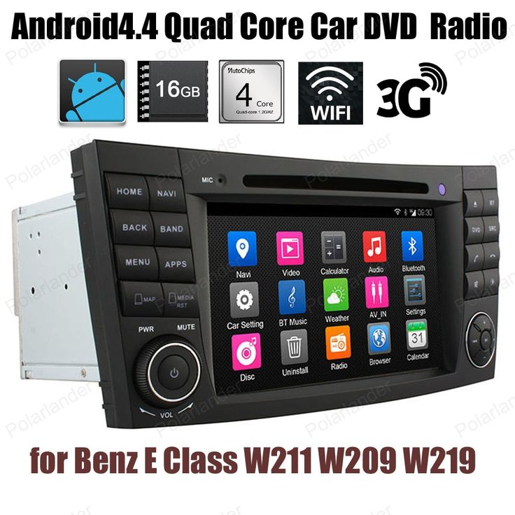 Android4.4 7 inch Car DVD Support DTV GPS BT 3G WiFi DAB+ TPMS For B/enz E C/lass W211 W209 W219 FM AM Quad Core radio