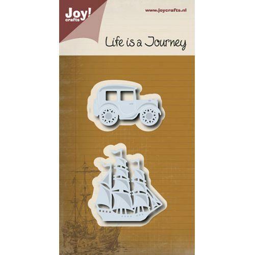 Auto a loď - vyřezávací a embosovací kovové šablony Joy Crafts (2ks) | Davona prázdniny
