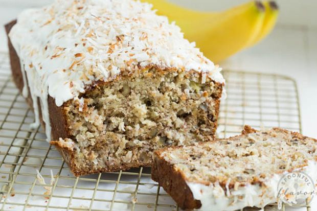 Banana coconut crunch bread with coconut cream icing - Gallery - The Breeze