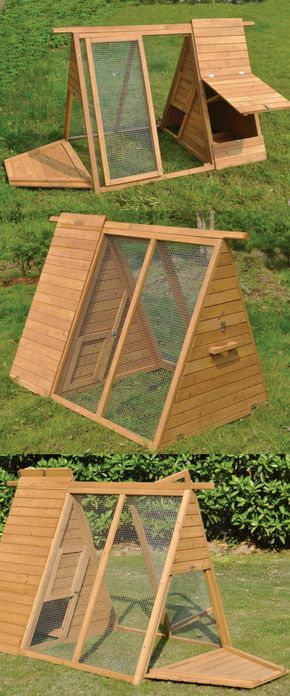 Today we want to present you15 Creative Modern A-frame Chicken Coop Designs; chicken cage; hen house; Chicken Coop; Chicken Coop