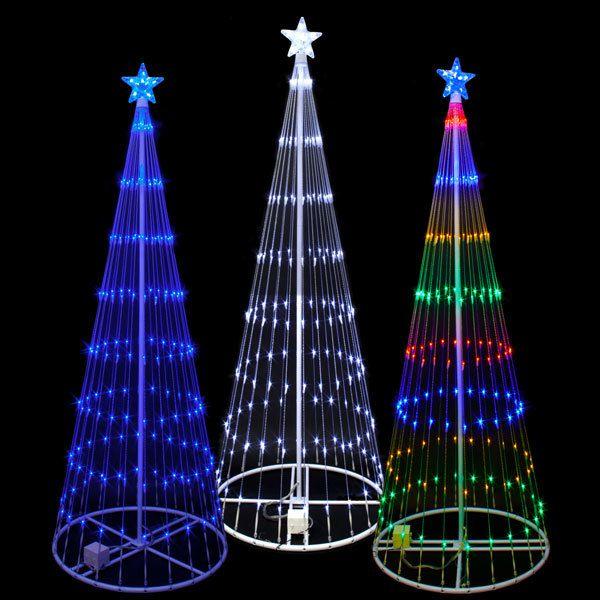 12 Foot 3d Led Showmotion Cone Shape Mini Lighttree 100shtree12 Escaparate Navidad Arbol De Navidad Espiral Arreglos De Navidad