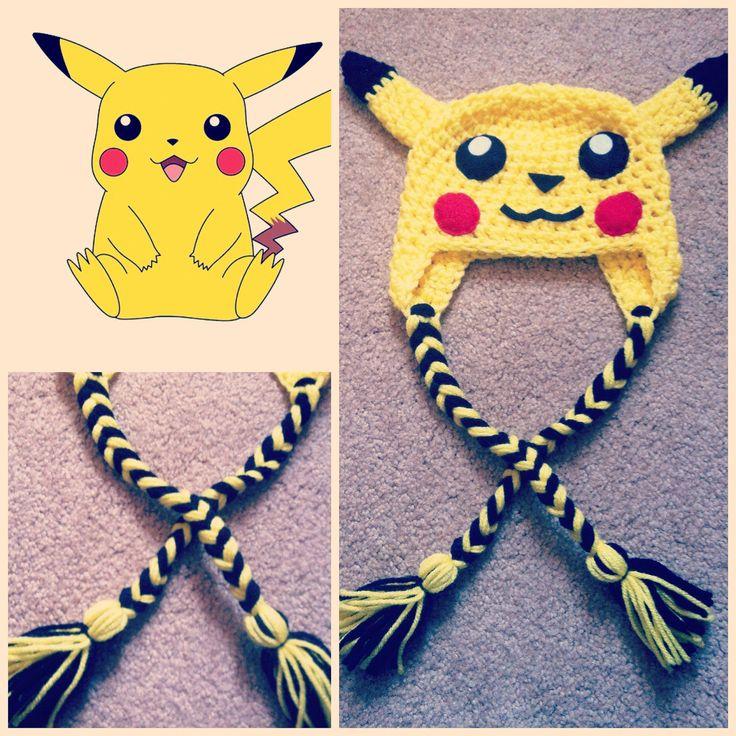 Crochet Pikachu Beanie. $15.00, via Etsy.