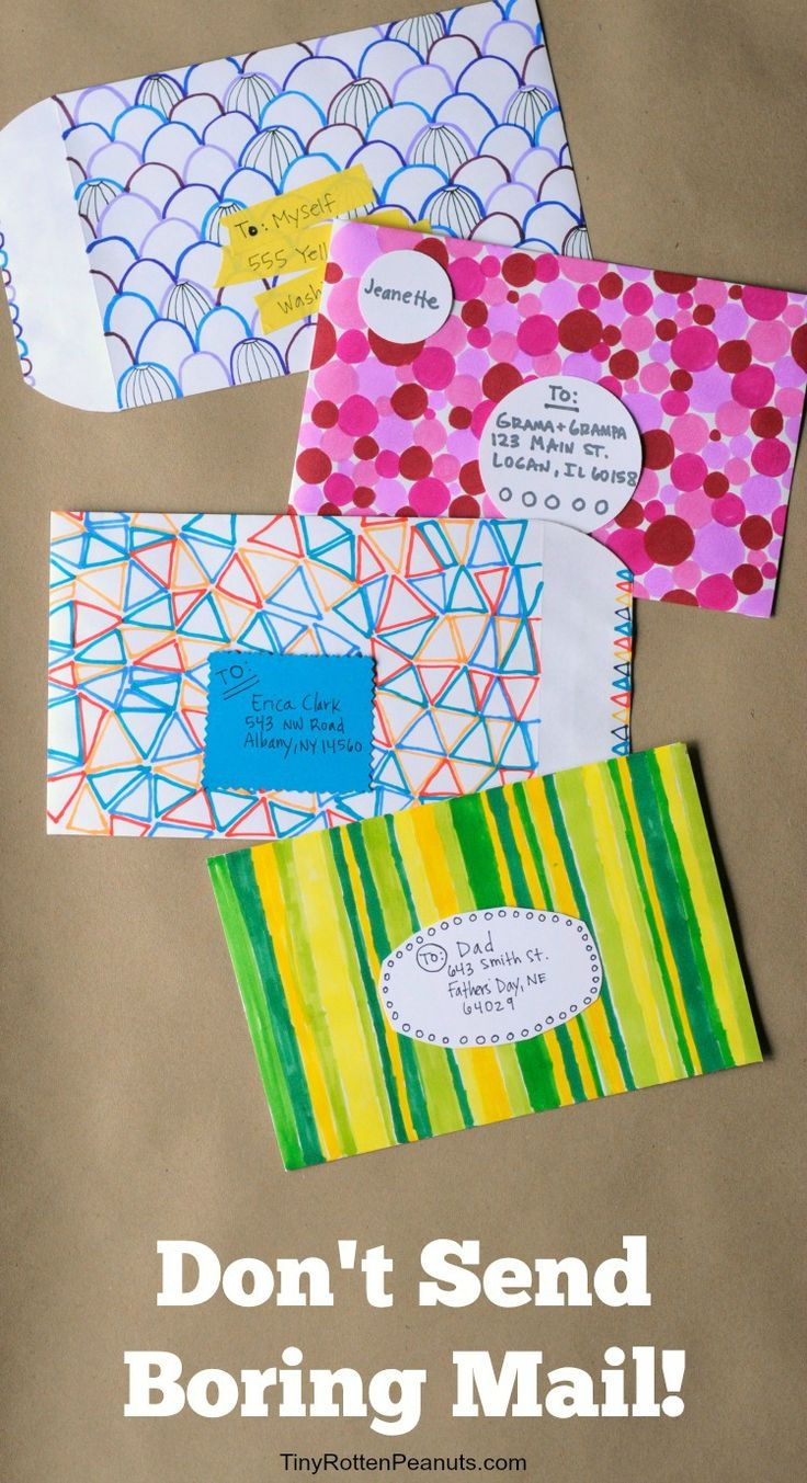 ideas for making really cool decorated envelopes - Decorating Art