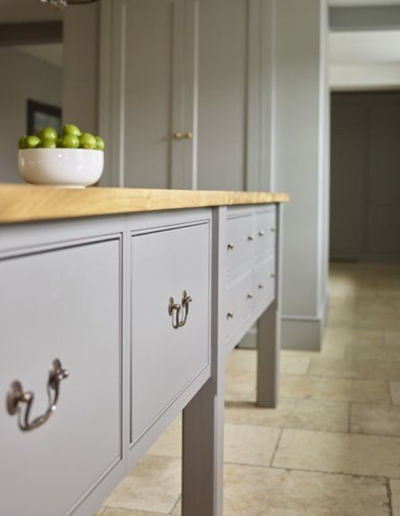 Love this beautiful prep table in this bespoke kitchen by Humphrey Munson | Beautiful Handmade Kitchens