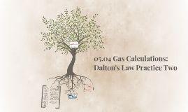 Daltons law partial pressure