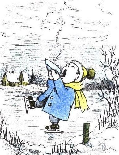 Maurice Sendak illustration from his book, Chicken Soup with Rice: A Book of Months (Harper & Row, 1962)