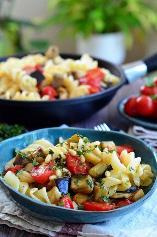Padlizsános-paradicsomos tészta recept