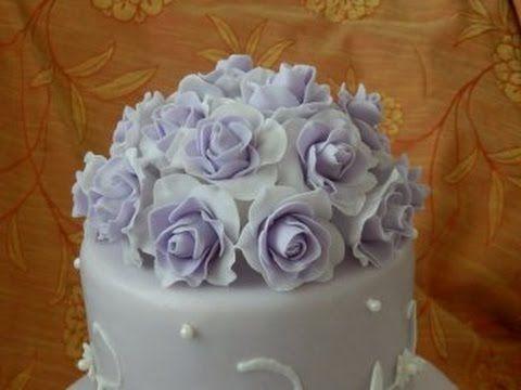 Розы из мастики. Розы омбре. Sugar Rose Ombre - YouTube