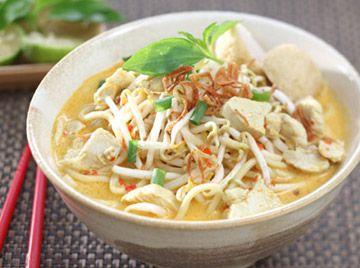 Mie Laksa Ayam - Singapore Recipe, resep