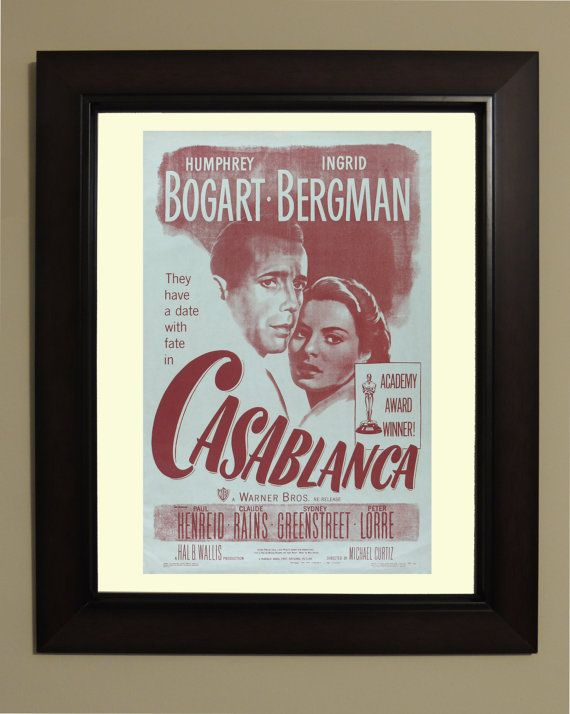 Casablanca Movie Poster  3 sizes available by VintageUnitedStates, $7.00