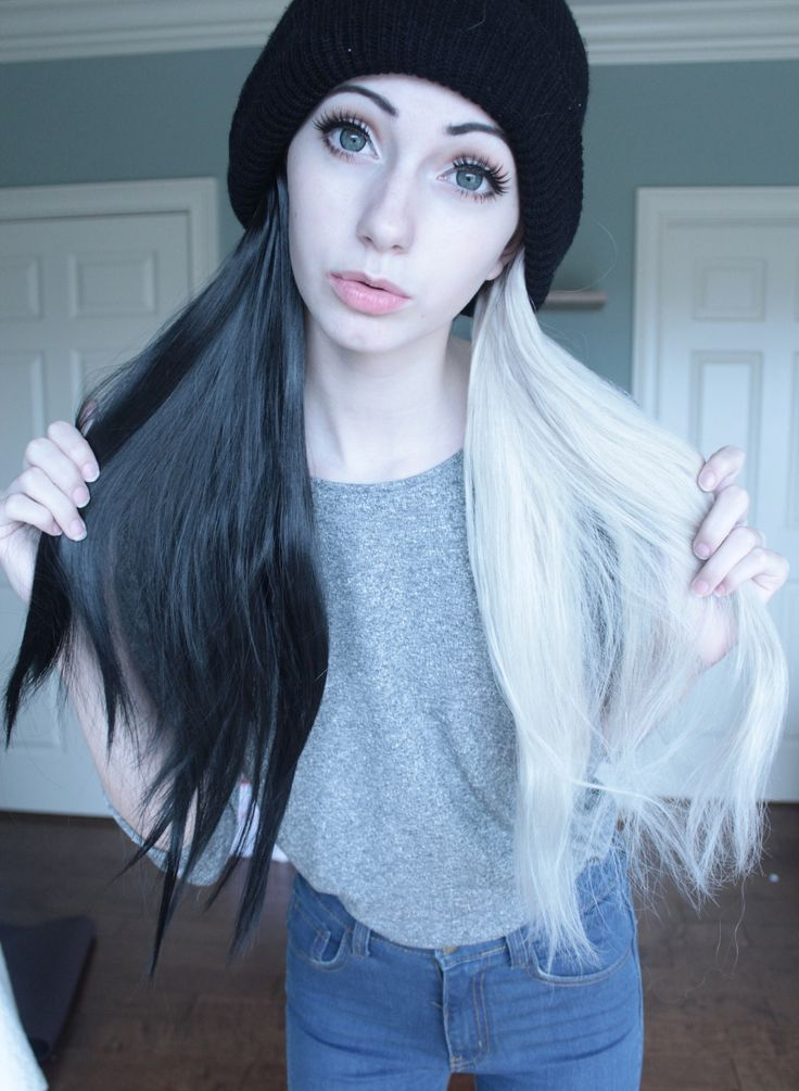 Admirable 1000 Images About Black And White Hair On Pinterest Black And Hairstyle Inspiration Daily Dogsangcom