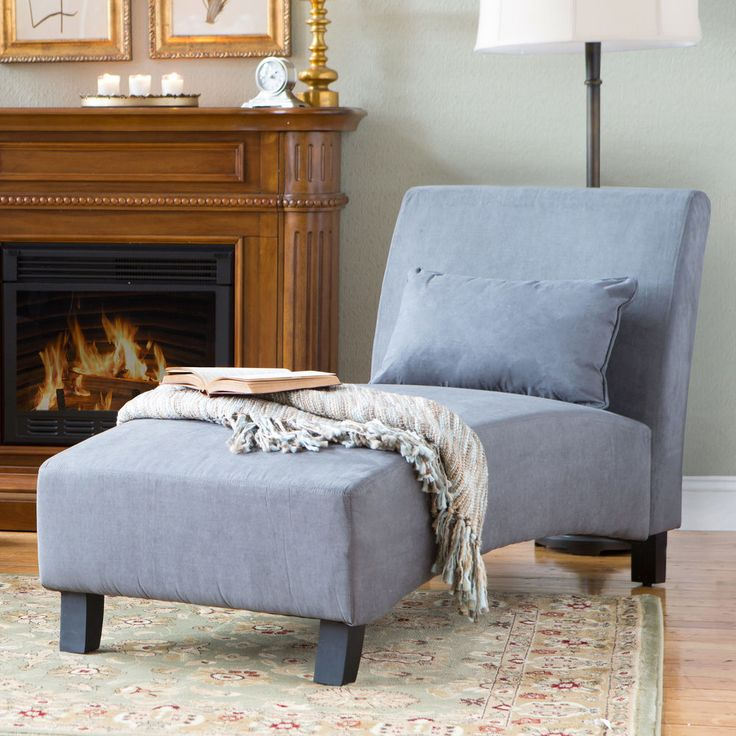 Grey Arched Back Chaise Lounge Indoor Home Living Room Seating Furniture Office Castleton Contemporary