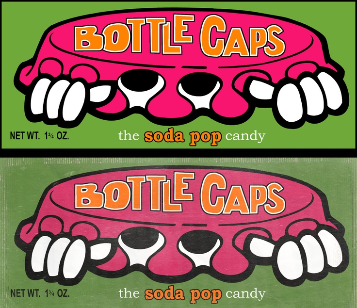 Retro Bottle Caps = ) Happy stuff! Love the root beer, then the cola! I remember these packages!!!