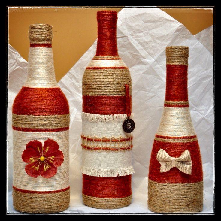 Las 25 mejores ideas sobre botellas decoradas navide as - Botellas de vino decoradas ...
