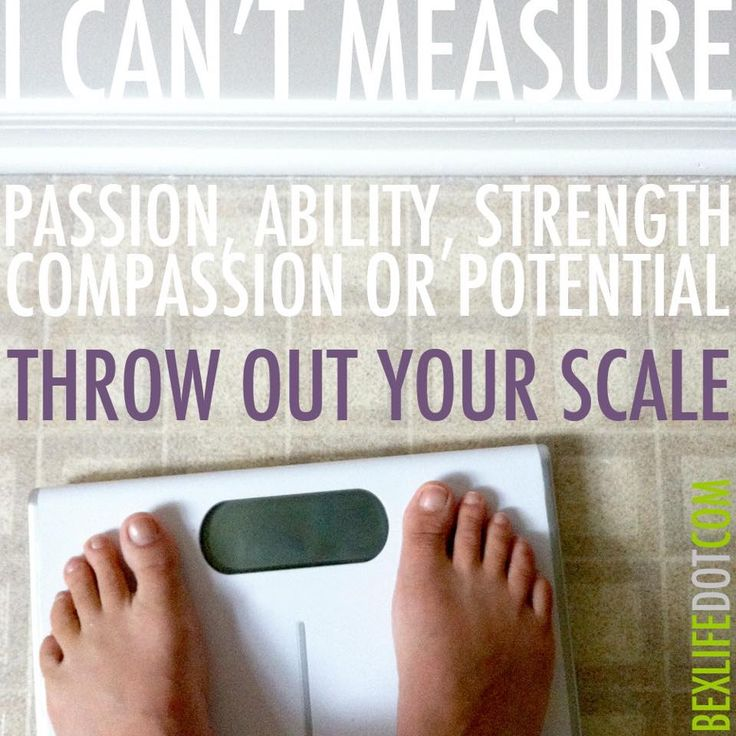 A good reason to dump your scale