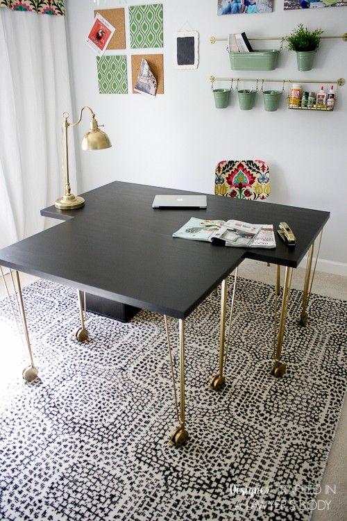 Super Easy Ikea Desk Hack!! Amazing Look for Cheap! Desk