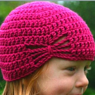 """""""butterfly"""" hat for Ella"""