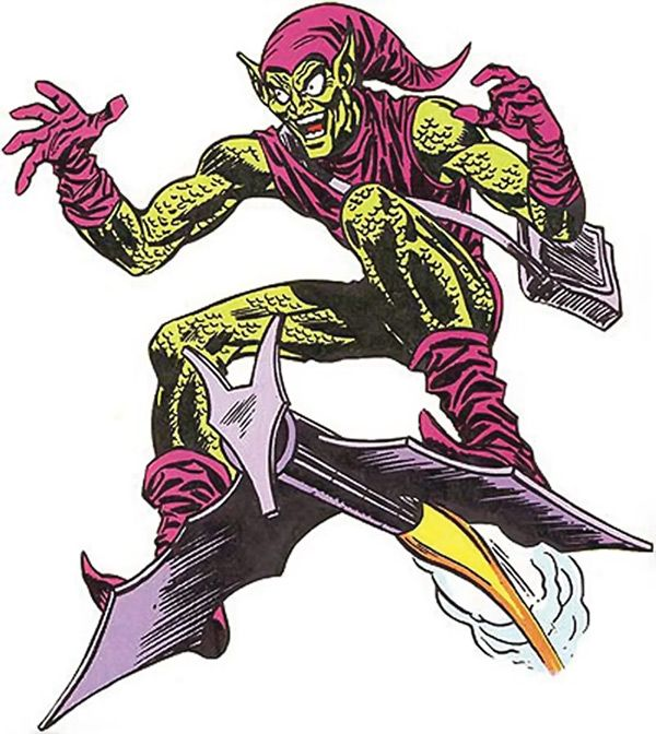 Ross Andru's version of the Goblin Glider - scary as hell.