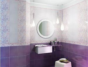 Керамическая плитка для ванной Астерия лиловый / Graсia Ceramica