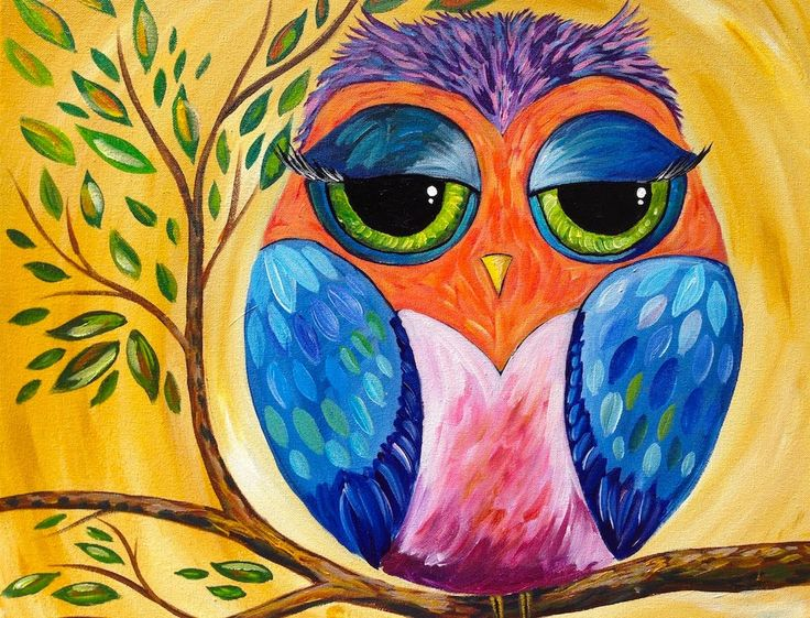 Colorful Owl | Acrylic Painting Lesson Below are a list of materials. The links go through our Amazon Affiliate program, and you support The Art Sherpa when ...