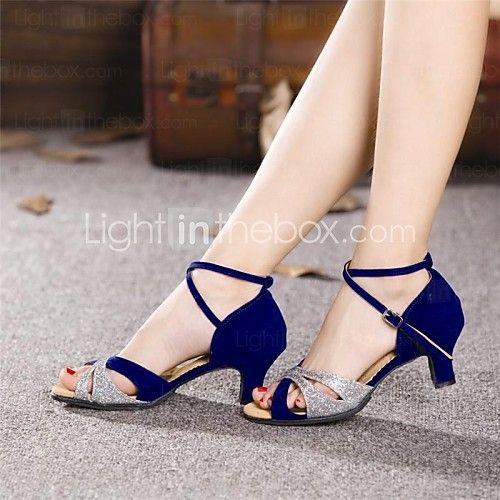 Zapatos de baile (Negro/Azul) - Danza latina - No Personalizable - Tacón Cubano - USD $ 15.29