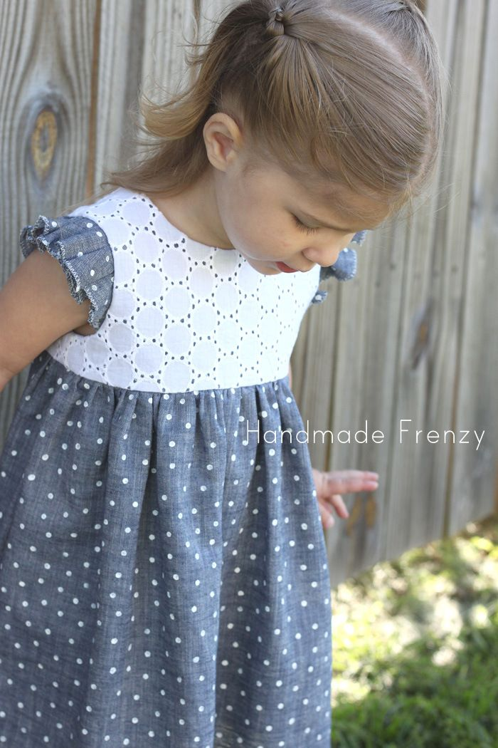 Handmade Frenzy: Easter Geranium Dress & DIY Polka Dot Chambray Fabric